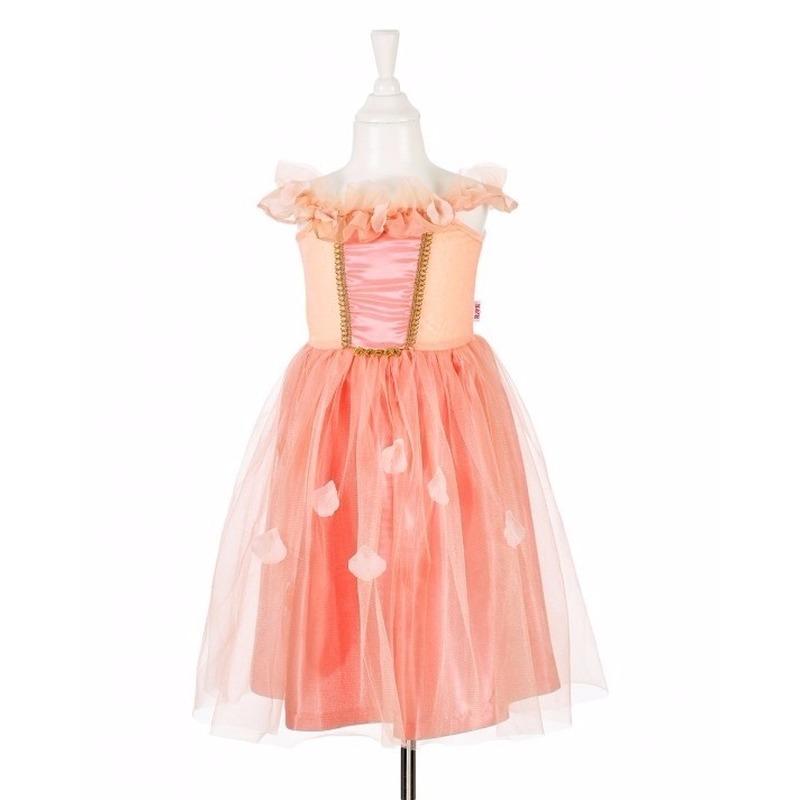 81872d6a6a14ff Zalmroze prinsessen jurkje met kant voor meisjes voor maar € 29.95 ...